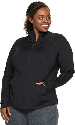 Tek Gear Plus Size Performance Thumb Hole Full Zip Jacket