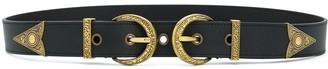 Versace Logo Double Buckle Belt