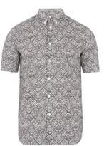Alexander McQueen Lace-print cotton-poplin shirt