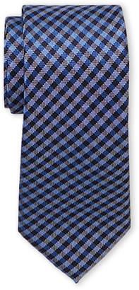Tommy Hilfiger Blue Textured Plaid Tie