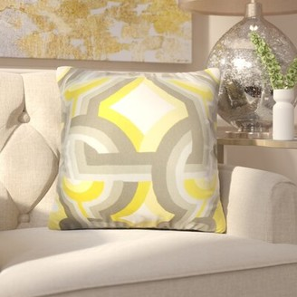 Mercer41 Westerlo Geometric Throw Pillow Cover Color: Gray Yellow