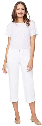 NYDJ Wide Leg Capri Jeans with Utility Pockets in Optic White (Optic White) Women's Jeans