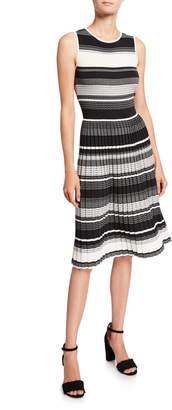 Kate Spade striped sleeveless sweater dress