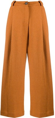 Sjyp High-Waisted Wide-Leg Trousers