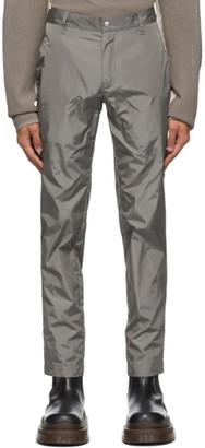 Arnar Már Jónsson Grey Taffeta Tailored Trousers