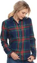 So Juniors' SO Plaid Lurex Shirt
