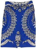 Yoana Baraschi Blue Printed Pencil Skirt