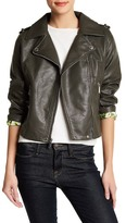 BCBGeneration Asymmetrical Front Zip Faux Leather Moto Jacket