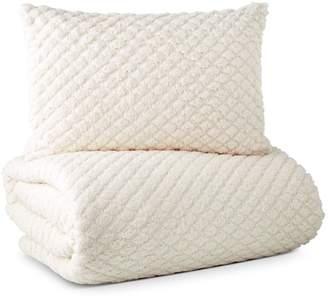 Diamond Sherpa Comforter Set, King