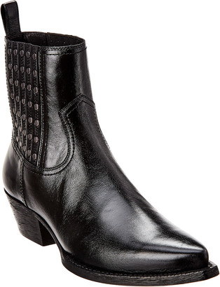 Saint Laurent Lukas Camperos Studded Leather Boot