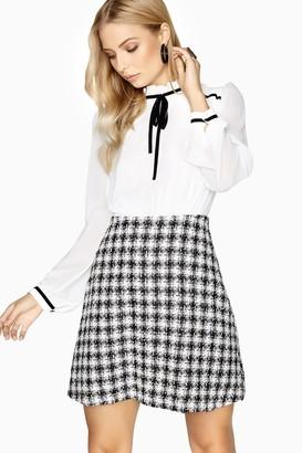 Paper Dolls Outlet Rochelle Tie Boucle Shift Dress