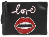 Sam Edelman Elli Love Embellished Pouch - Black