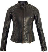 McQ by Alexander McQueen Motocross zip detail leather jacket