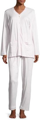 P Jamas Butterknit Leopard Pajama Set