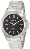 A Line a_line Women's AL-80013-11 GRA Black Dial Stainless Steel Watch