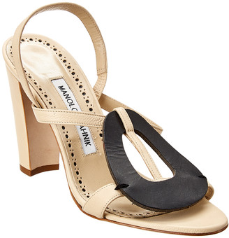 Manolo Blahnik Eudokia 105 Leather Sandal
