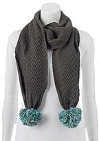 Keds Cable-Knit Zigzag Scarf