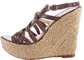 Alexandre Birman Woven Leather Wedge Sandals