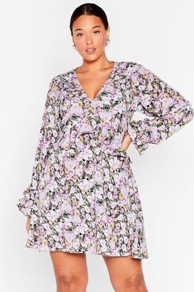 Nasty Gal Womens Plant Get Enough Plus Floral Mini Dress - Multi