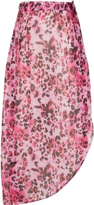River Island Girls Pink animal print skirt