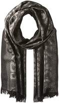 Badgley Mischka Women's Ocelot Lurex Jacquard Wrap Scarf