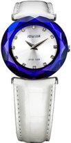Jowissa Women's J1.010.M Safira 99 Silver Dial Blue Faceted Sapphire Bezel Watch