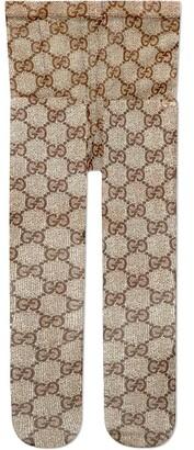 Gucci Beige Gg Pattern Tights