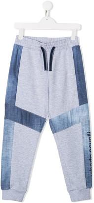 Roberto Cavalli Junior Paneled Colour Block Casual Trousers