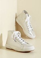 Here's the Kicker Sneaker in Metallic Moonlight in 7.5
