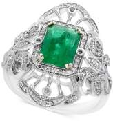 Effy Brasilica by Emerald (1-3/8 ct. t.w.) and Diamond (1/5 ct. t.w.) Ring in 14k White Gold