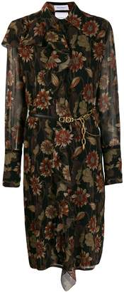 Salvatore Ferragamo silk crepe printed dress