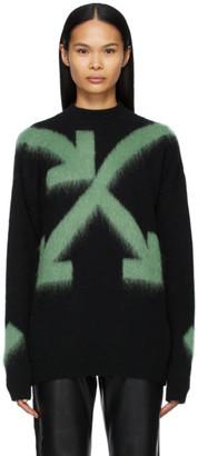 Off-White Black Fuzzy Arrows Crewneck Sweater