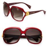 Alexander McQueen Square Plastic Sunglasses