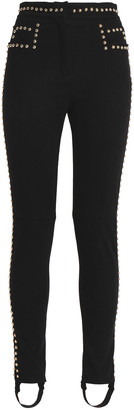 Balmain Studded High-rise Stirrup Skinny Jeans