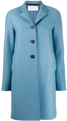Harris Wharf London Single-Breasted Felt Coat