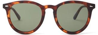 Le Specs Fire Starter Round Sunglasses - Womens - Tortoiseshell