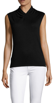 Magaschoni Silk V-Neck Top