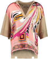 Emilio Pucci Silk blend-paneled wool and cotton-blend top