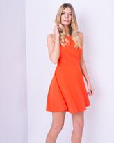 Missy Empire Cyndi Orange Skater Dress