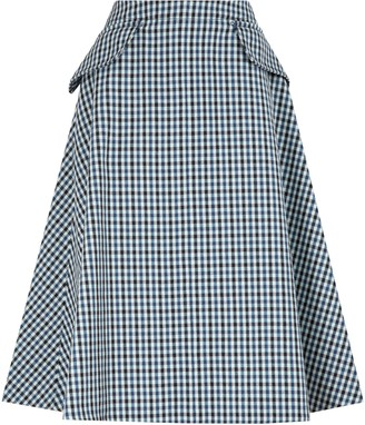 Lanvin Flap Pocket A-Line Skirt