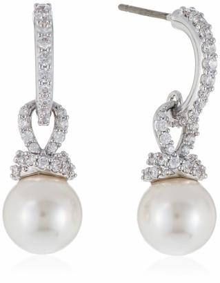 Swarovski Women's Originally Collection Crystal Pearl Pierced Earrings