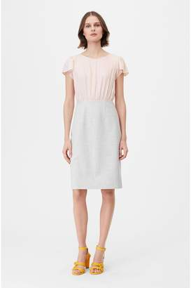 Rebecca Taylor Tailored Clean Suiting Silk Twill Dress