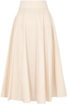 Mark Kenly Domino Tan Ninette peach cotton midi skirt