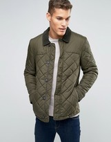 Jack Wills Quilted Jacket In Moss