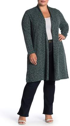 Bobeau Ribbed Knit Cardigan Duster (Plus Size)