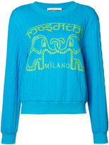 Moschino elephant cable knit jumper - women - Cotton/Polyester - XS
