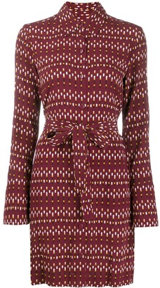 Equipment Patterned Shirt Dress