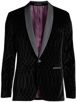 Paul Smith Laser-Printed Velvet Blazer