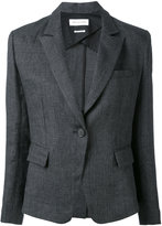 Etoile Isabel Marant woven fitted blazer - women - Cotton/Linen/Flax - 36