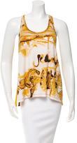 Jean Paul Gaultier Soleil Printed Mesh Panel Top